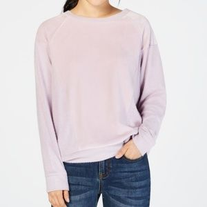 Hippie Rose Juniors Velvet Raglan Sweatshirt